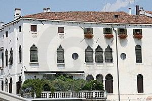 White Corner Building, Venice, Italy Stock Image - Image: 15458751