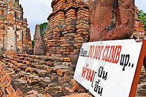 Do Not Climb Sign Stock Image - Image: 15460511