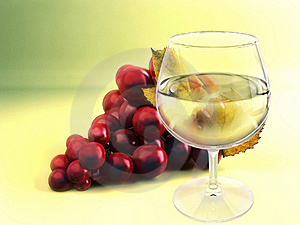 A Bunch Of Grape And Wineglass Stock Photos - Image: 15462923