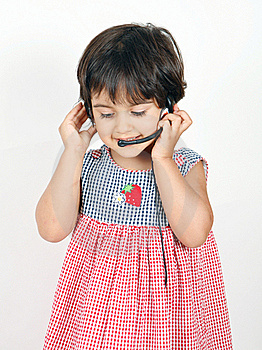 Toddler Talking And Posing Royalty Free Stock Images - Image: 15462999