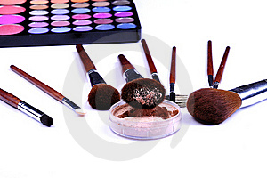 Colors And Brushes Stock Image - Image: 15463881