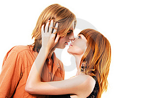 Young Tender Couple Royalty Free Stock Image - Image: 15468596