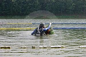 Divers Emerge Royalty Free Stock Photos - Image: 15468748