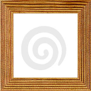 Wooden Photo Frame, Isolated Stock Images - Image: 15468994