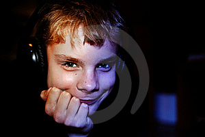 Teenager With Headphones Royalty Free Stock Photo - Image: 15469985