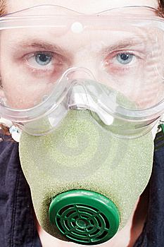 Man In A Respirator Royalty Free Stock Image - Image: 15470326