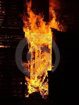 Flames Burning Wood Stock Photo - Image: 15470870