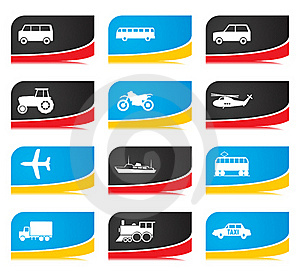 Transport Buttons Royalty Free Stock Photo - Image: 15471025