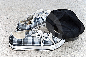 Boy's Shoes And Cap Stock Images - Image: 15471074