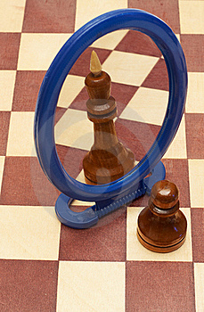 Pawn Vs King Stock Photos - Image: 15471703