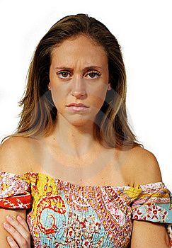 Angry Young Woman Royalty Free Stock Photos - Image: 15471868