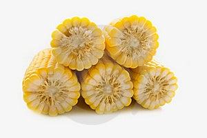 The Corn On White Stock Photos - Image: 15473083