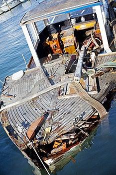 Broken Boat Stock Image - Image: 15473311