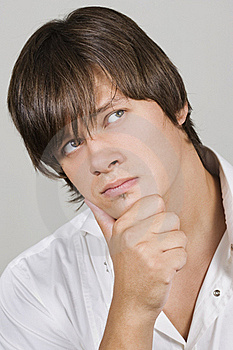Handsome Young Man Thinking Stock Image - Image: 15476201