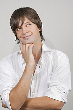Handsome Young Man Thinking Stock Photography - Image: 15476232