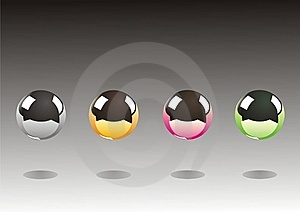 Four Metal Balls Royalty Free Stock Image - Image: 15476856