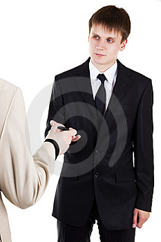 Young Business Man Take Mobile Phone Stock Image - Image: 15476871