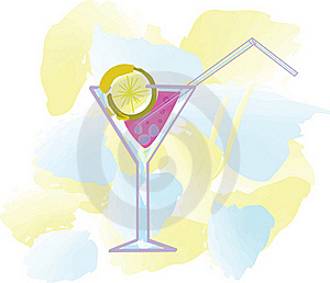 Cocktail With Lemon Stock Photo - Image: 15480050
