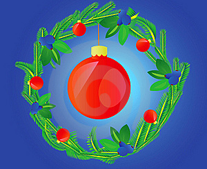 Wreath Decorated Varicoloured Ball Stock Images - Image: 15480114