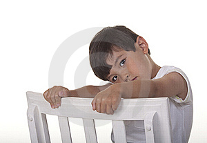 Bashful Young Boy. Royalty Free Stock Photos - Image: 15480298