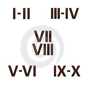 3d Wooden Roman Numbers Stock Photos - Image: 15481703