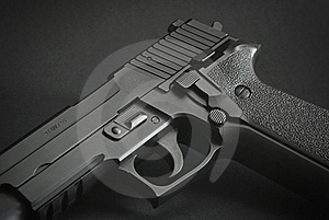 Black Automatic Firearm Royalty Free Stock Photography - Image: 15485937