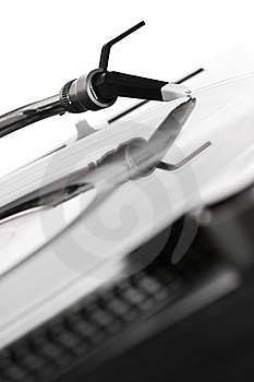 Turntable Playing The Record Royalty Free Stock Photos - Image: 15486608