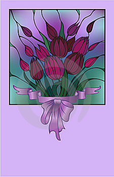 Vector Card With Bouquet Of Flowers Stock Image - Image: 15487381