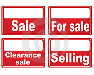 For Sale Stock Image - Image: 15490171