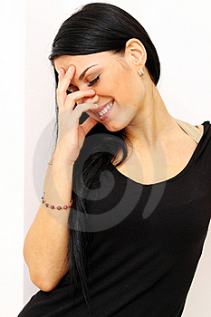 Portrait Of A Happy Young Woman Smiling Stock Photos - Image: 15492453