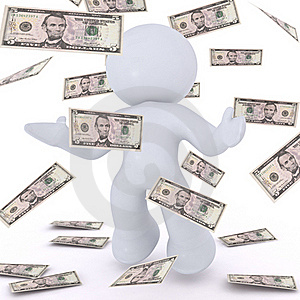 Playing The Money Royalty Free Stock Photos - Image: 15493528