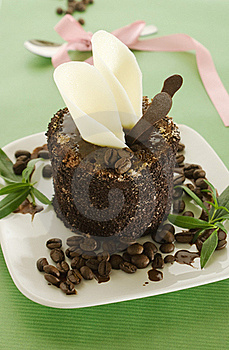 Chocolate Cake With Coffee Bean Stock Photography - Image: 15497332
