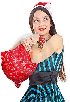 Girl Near Christmas Fir Tree Stock Images - Image: 15497914