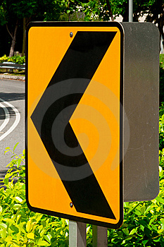 Sharp Left Turn Traffic Sign Stock Photos - Image: 15498013