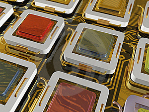 Processors Royalty Free Stock Photo - Image: 15498015