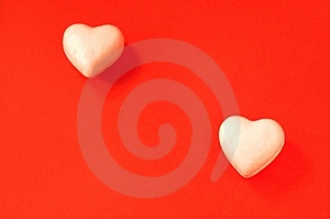 Withe Hearts Royalty Free Stock Photos - Image: 1556868