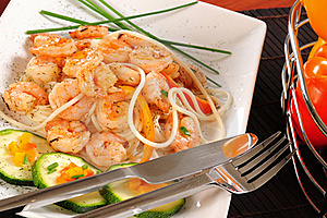 Prepared Shrimp. Stock Image - Image: 15500671