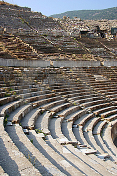 Detail Of The Ancient Theater In Ephesus Stock Photo - Image: 15500890
