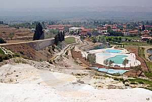 Landscape With Calcium Relief In Pamukkale Stock Images - Image: 15502594