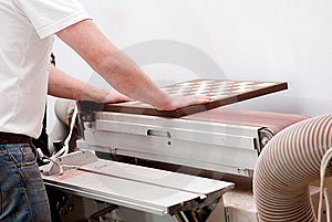 Carpenter Working On An Electric Buzz Stock Images - Image: 15503554