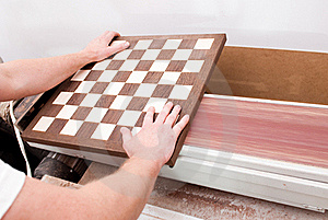 Carpenter Working On An Electric Buzz Royalty Free Stock Images - Image: 15504029