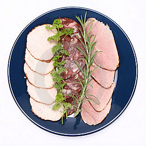 Plate Of Assorted Cold Cuts Royalty Free Stock Photography - Image: 15504127