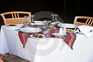 Table For Dinner Stock Photos - Image: 15504183
