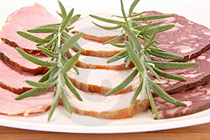 Plate Of Assorted Cold Cuts Stock Photography - Image: 15504812