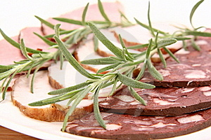 Plate Of Assorted Cold Cuts Stock Image - Image: 15504861