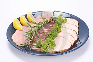 Plate Of Assorted Cold Cuts Royalty Free Stock Images - Image: 15505069