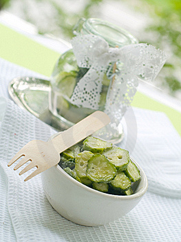 Fresh Salted Cucumber Royalty Free Stock Photos - Image: 15506278