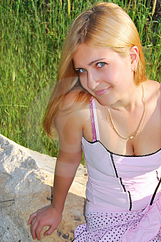 The Girl In The Park Royalty Free Stock Photography - Image: 15509807