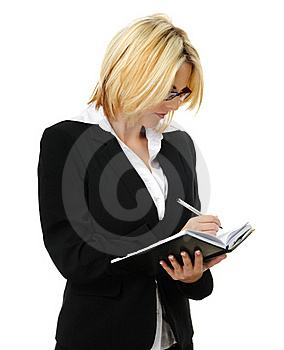 Business Woman Writing Stock Photo - Image: 15511230
