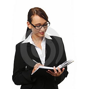Attractive Brunette Business Woman Royalty Free Stock Image - Image: 15511246